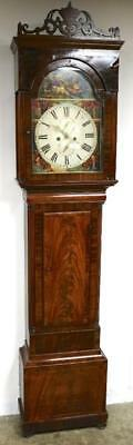 Antique C1830 Scottish Mahogany Longcase Grandfather Clock 8 Day Striking Clock