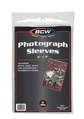 (50) Bcw 6X9 Photo Picture Image Soft Poly Acid Free Storage Sleeve Holders