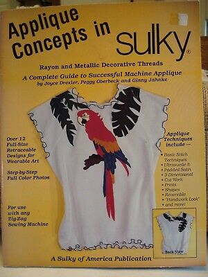 Applique Booklet - Applied Concepts in Sulky