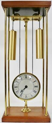 """Vintage 8 Day Mystery """"The Rising Works Clock"""" Weight Driven Table Mantel Clock"""