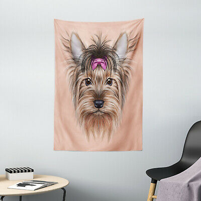 Yorkie Tapestry Realistic Cute Animal Print Wall Hanging Decor