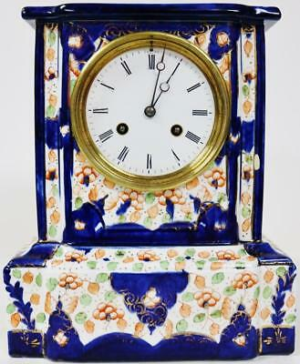 Amazing Antique French Sevres Porcelain Mantle Clock Hand Painted Decoration