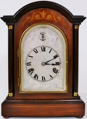 Antique Inlaid German 1/4 Striking 8 Day Westminster Chime Musical Bracket Clock
