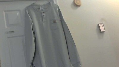 Carhartt Pre-Owned Flame-Resistant Long Sleeve Safety T-Shirt ( XXL-Rg ) Blue