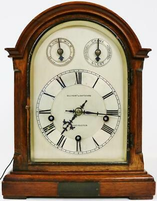 Antique German Mahogany Bracket Clock W & H 8 Day Musical Westminster Chime
