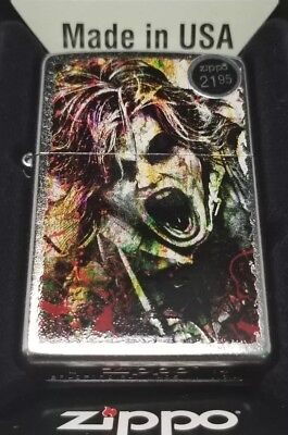 Zippo 28876 Windproof Street Chrome Lighter With Zombie New In Box