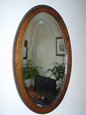 Old  Oak Mirror (possibly late Victorian ).