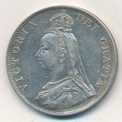 1890 Great Britain Silver 2 Florin-Very Nice Circulated British Coin-Ships Free!