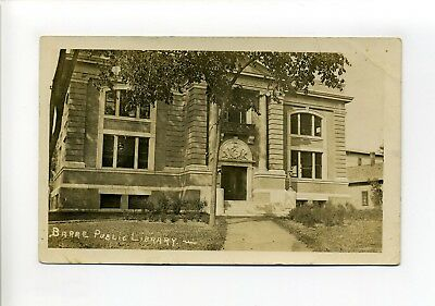 Barre VT Vermont RPPC real photo, Public Library, antique postcard