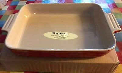🎄new Large Le Creuset Red Oven Dish Lasagne Stoneware Bakeware 32 X 24cm Handle