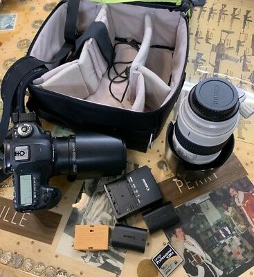 Canon EOS 5D Mark III 22.3MP Digital SLR Camera and Lenses Excellent Bundle!!