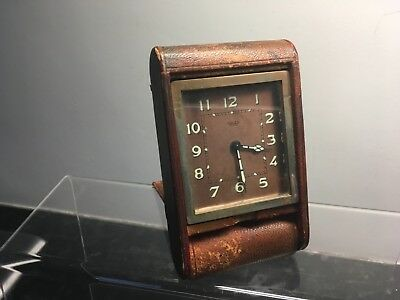 VINTAGE JAEGER LECOULTRE 8 DAY TRAVEL/DESK ALARM CLOCK Perfect working conditio