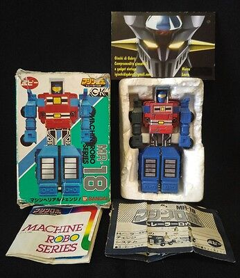 Robot transformer Machinerobo series, MR-18 POPY BANDAI ST, made in Japan 1983.