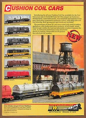 Walthers Model Railroad Single-Page Print Ad 1988 Cushion Coil Cars Trains