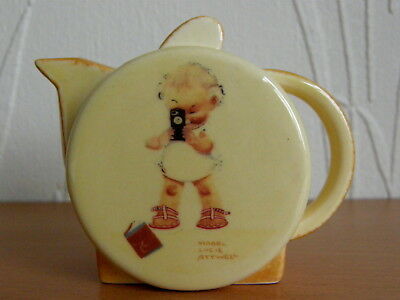 Carlton Ware Mabel Lucie Attwell Photographer Mini Teapot Special & Certificate
