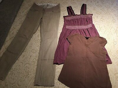 MAMAS & PAPAS H&M NEXT maternity clothing bundle trousers tops UK 12