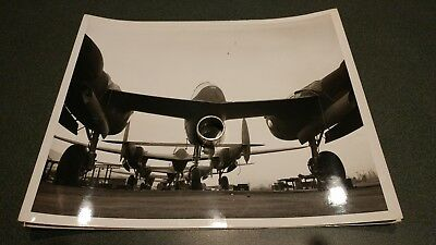 Early 1940s p38 test prototype lightning fighter aircraft production line photo