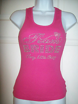Victorias Secret Team bride Ribbed tank top Sexy Little Thing shirt Cotton SMALL
