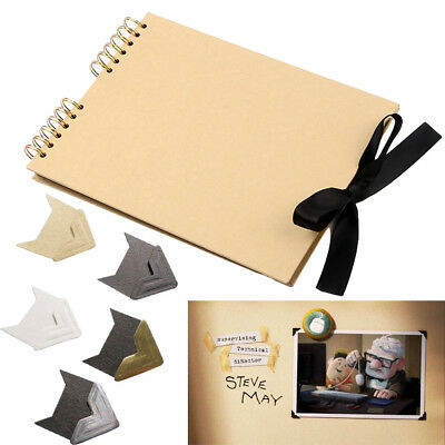 Photos Book DIY Scrapbook w/ Angle Stickers For Wedding Baby Memory Anniversary
