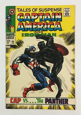 Marvel Silver Age Tales of Suspense #98 – 8.0 VF Cap vs Black Panther!!!