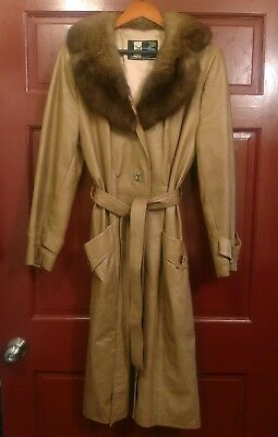 Breier Of Amsterdam Vintage Womens Leather Coat Size