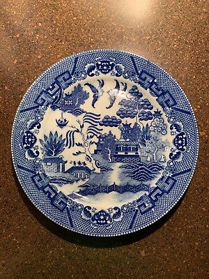 """Blue Willow Made In Occupied Japan 9 1/4"""" Plate Antique"""