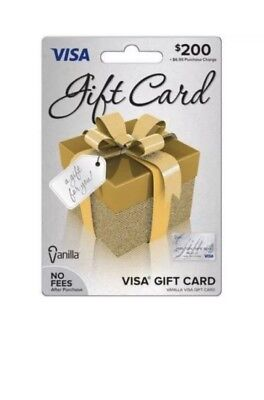 $200 Visa Card - Activated Ready to Use, Free Same Day Shipping  No Returns
