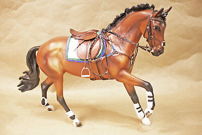 New Top LSQ Jumper XC English CM Tack Set, fits Breyer Cantering Warmblood mold