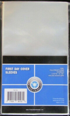 (5) Psd First Day Cover #6 Envelpope Soft Poly Acid Free Storage Sleeves