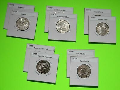 2016 PDS America The Beautiful Quarters(ATB) 15 Coin Set-Mint Bags-Free Shipping