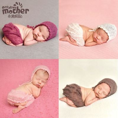 Ruffles Mohair Newborn Pants and Hat Set for Baby Photo Prop Photography props