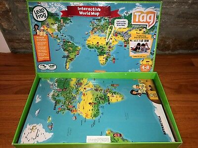 Leapfrog Interactive World Map.Leapfrog Interactive World Map Works With Tag Not Included Ages
