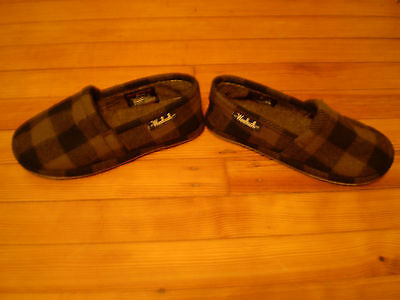 New Woolrich Chatham Chill Mens 8 Brown/Black Buffalo Check Slippers