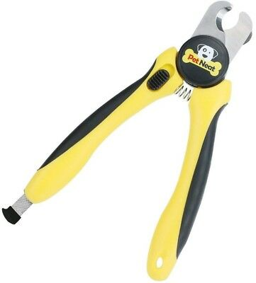 Dog Nail Clippers - Stainless Steel - Pet Neat - Canine Toenail Trimmer - Yellow