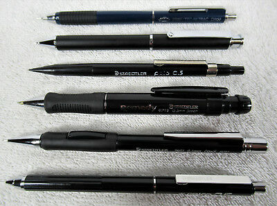 Lot of 6 Assorted Mechanical Pencils - Staedtler - Used - Estate Collection #75