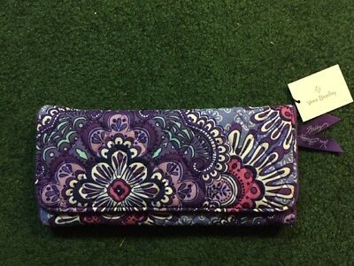 Nwt ~ New ~ Vera Bradley Trifold Wallet ~ Lilac Tapestry ~ Ships Free