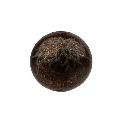 An Antique Meiji Era Lacquer Chrysanthemum Decorated Ojime Bead
