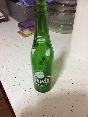 vintage Goody soda pop bottle 10 oz green