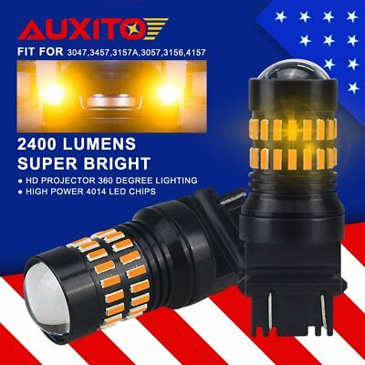 2X 48smd Front Turn Signal Light 3457A Amber LED Bulb for Ford Crown Victoria