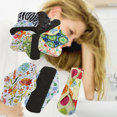 S/M/L 45 Patterns Reusable Bamboo Cloth Washable Menstrual Pad Mama Sanitary Set