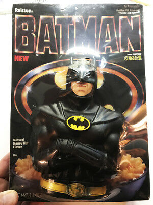 Batman Cereal Full Box with First Bank Offering on Pack - 1989