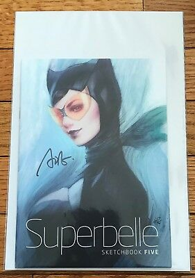 Artgerm Superbelle Vol. 5-Stanley Lau-Signed-Sketchbook-Nycc-Catwoman-Supergirl