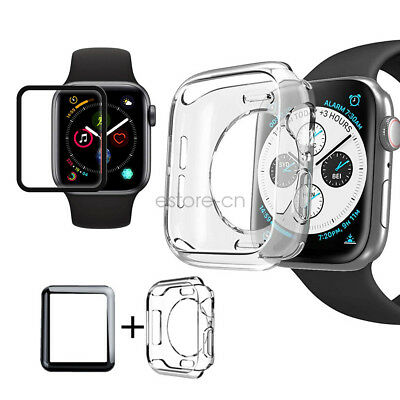 Waterproof Screen Protector TPU Case Cover For Apple Watch 5 4 3 40/44mm 42/38mm