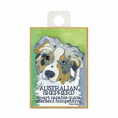 Australian Shepherd Ursula Dodge Dog Wood Fridge Magnet
