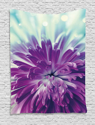 Dahlia Tapestry Blooming Floral Motifs Print Wall Hanging Decor
