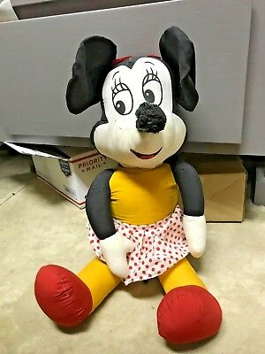 "Disney Minnie Mouse Antique 22"" Plush Doll~Very Collectible"