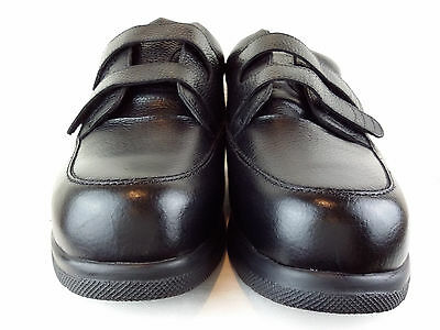 NWOT DREW Men's Size 13 4W Black Leather Therapeutic Orthopedic Diabetic Shoes.