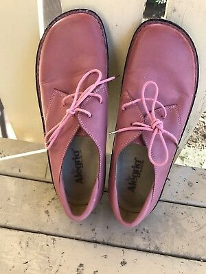 Nice WALKING Pink Laced Up Shoes ALEGRIA By PG Lite SIze US 11 (42) Gently Worn