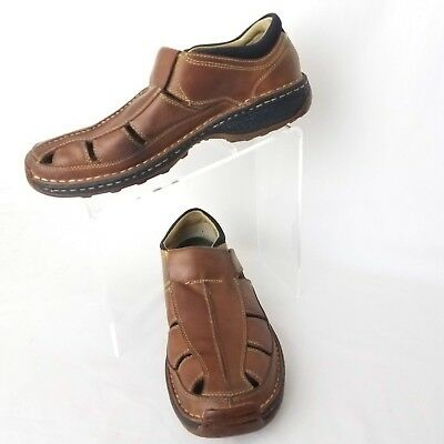 64ecac415e1b Timberland Men s Sandals Altamont Fisherman Leather Size 9.5 M Brown Shoes