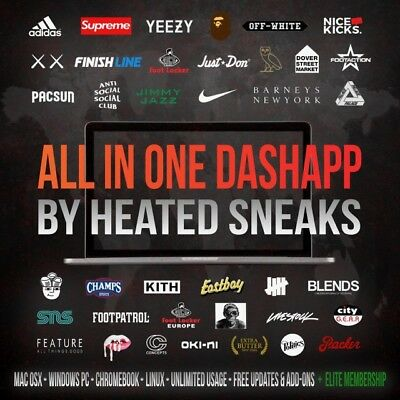 Heated Sneaks AIO Bot - Supreme, Yeezy, Jordan, Off White, Nike, Adidas
